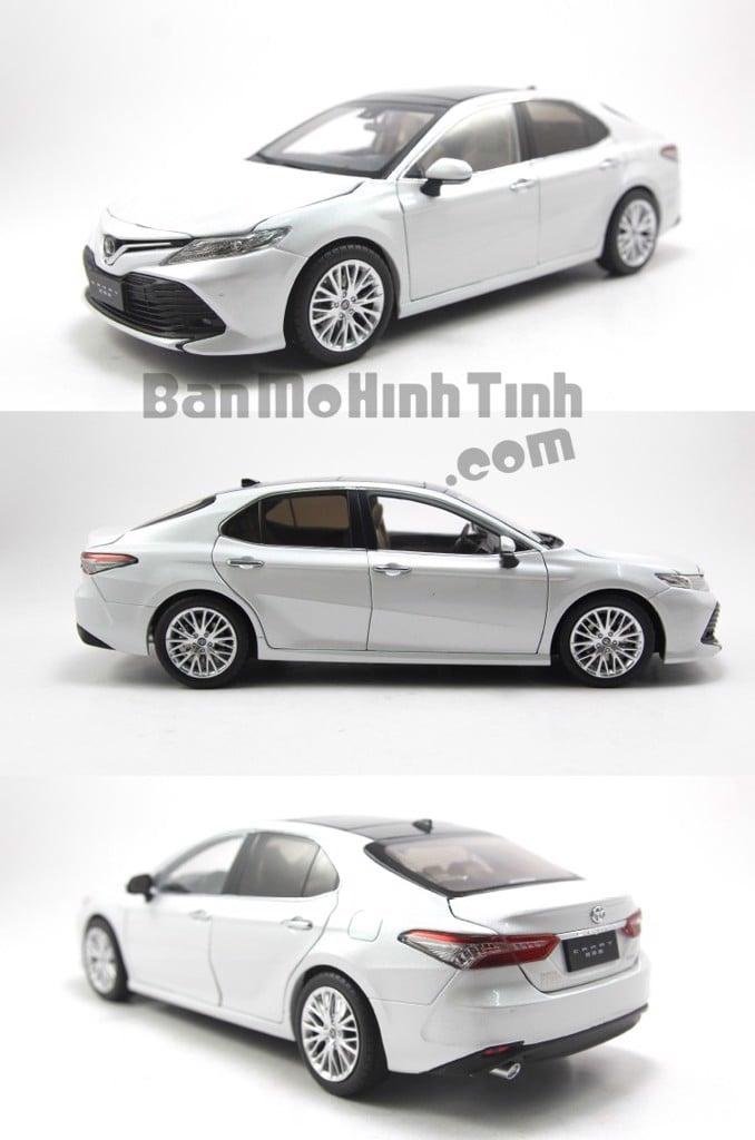 Mô hình xe Toyota Camry 2018 - 2019 White 1:18 Paudi