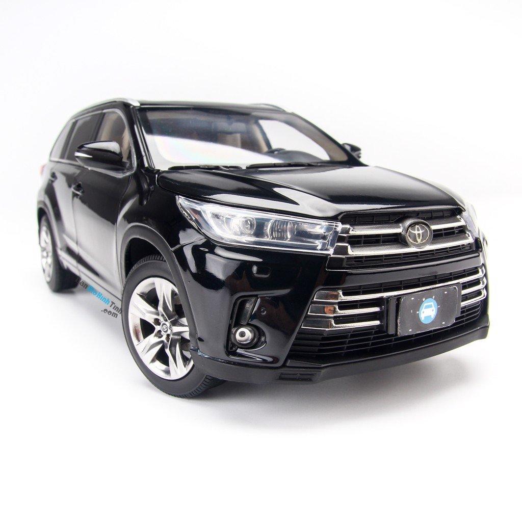 Mô hình xe Toyota Highlander 2018 Black 1:18 Paudi