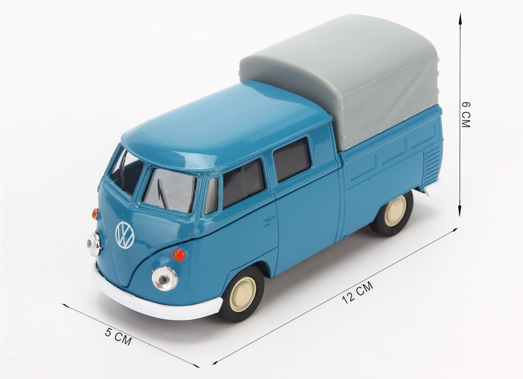 Mô hình xe Volkswagen Double Cabin Pick Up 1:36 Welly Blue
