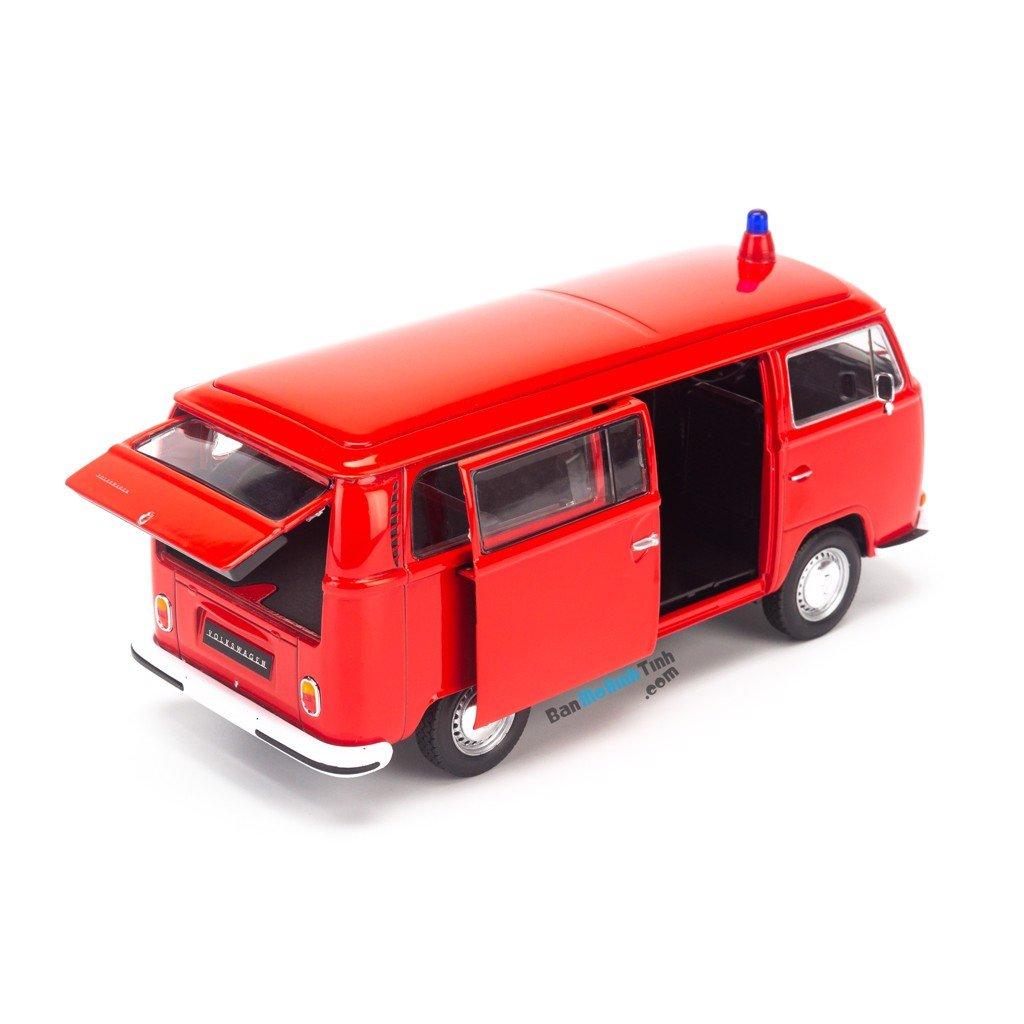 Mô hình xe 1972 Volkswagen Bus T2 1:24 Welly Red giá rẻ