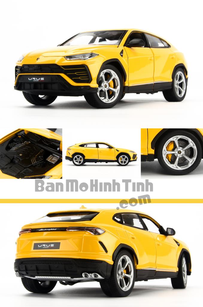 Mô hình xe Lamborghini Urus Yellow 1:18 Bburago