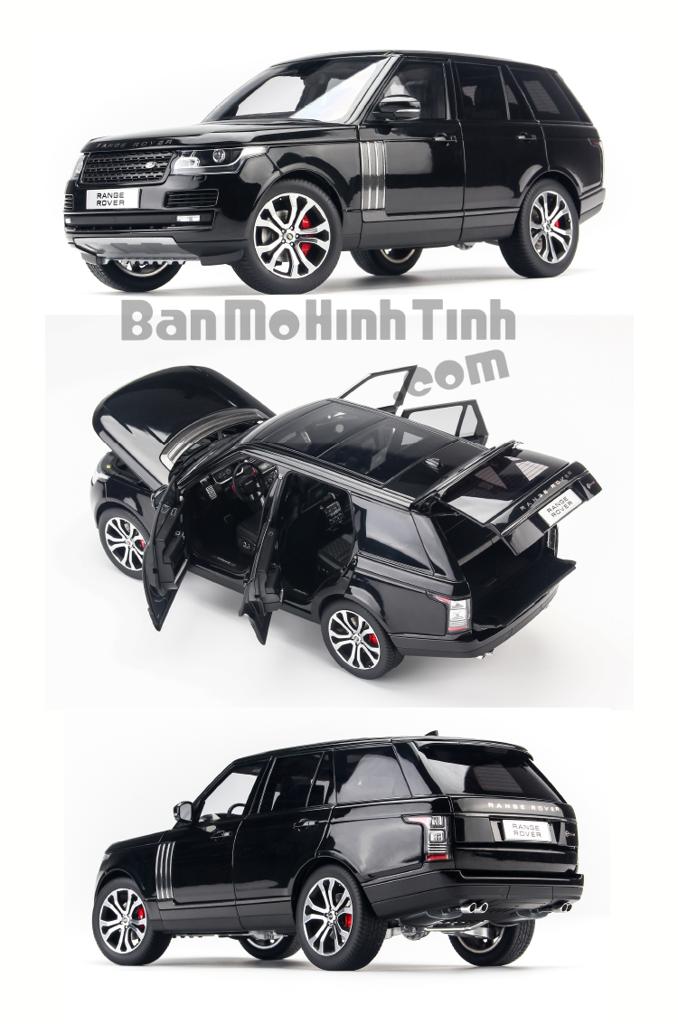 Mô hình xe Land Rover Range Rover Autobiography SV Black 1:18 LCD