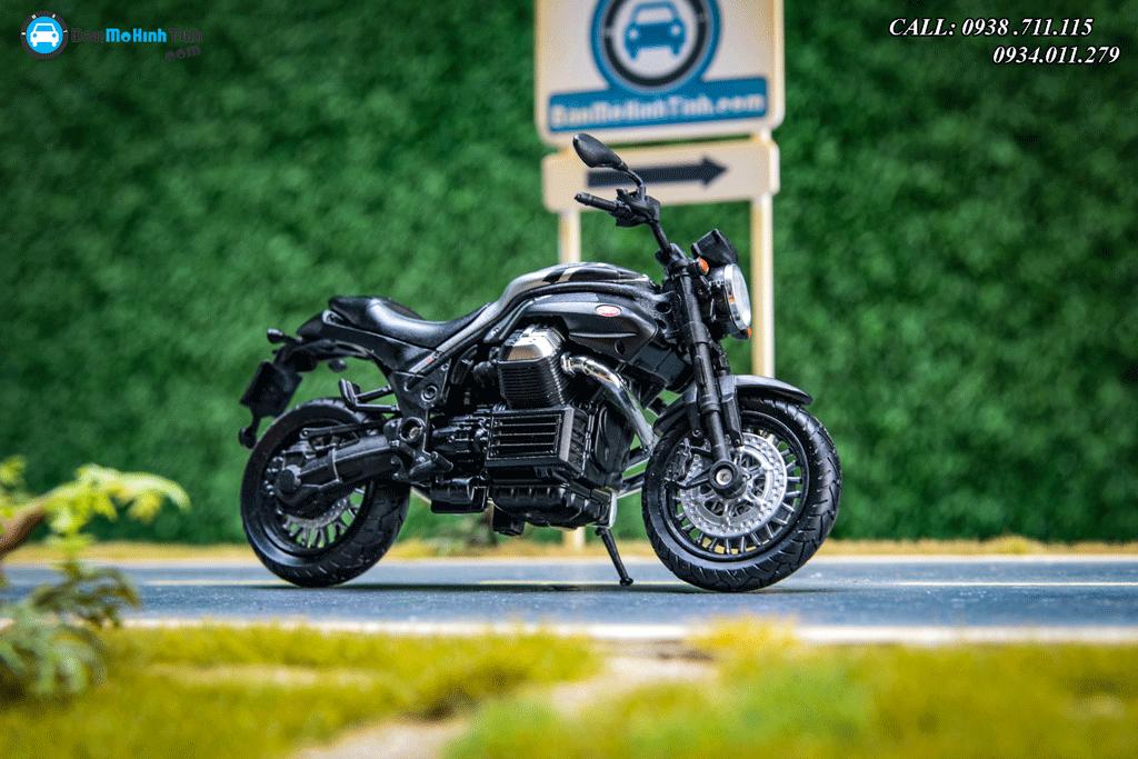 Mô hình xe mô tô Moto Guzzi Griso 1200 8V SE Black 1:18 Welly