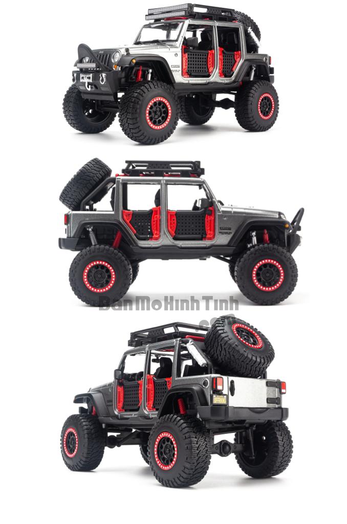 Mô hình xe Design Off-Road Kings 2017 Jeep Wrangler Unlimited 1:24 Maisto Grey