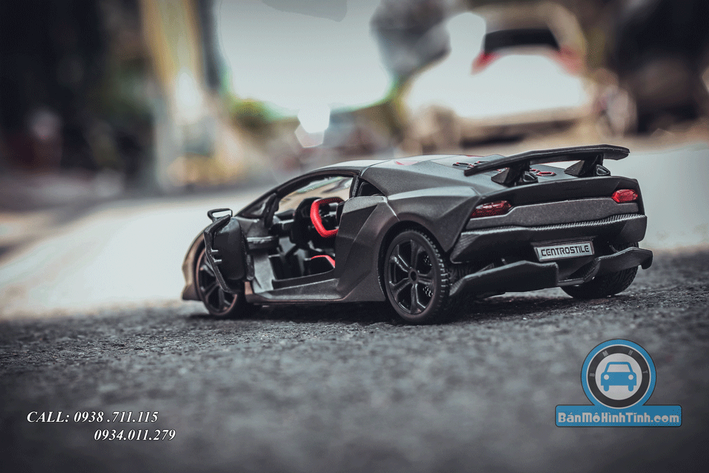 Mô hình xe Lamborghini Sesto Elemento 1:24 Bburago Matte Grey