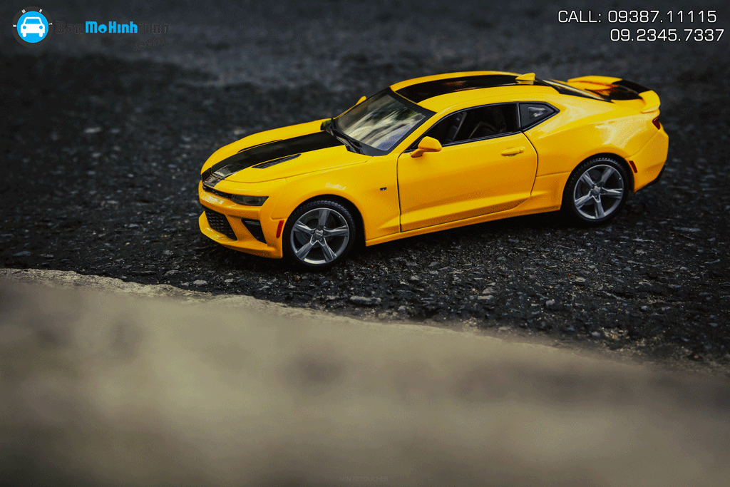 Mô hình xe Chevrolet Camaro Ss 2016 Yellow 1:18 Maisto