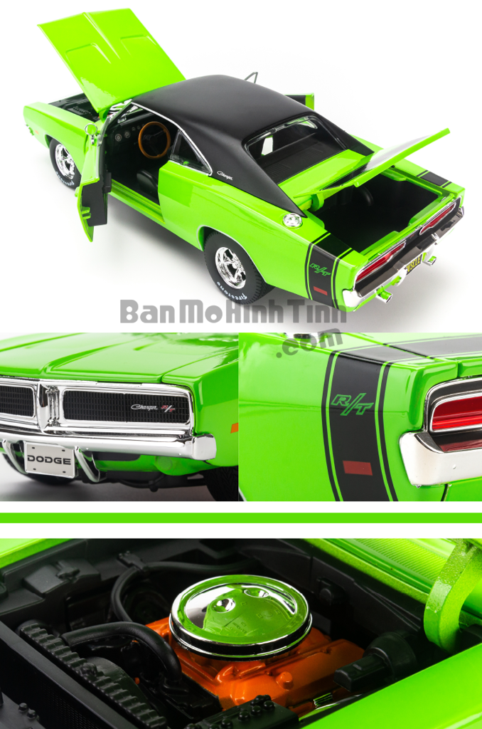 Dodge Charger R/T 1969 1:18 Maisto Green