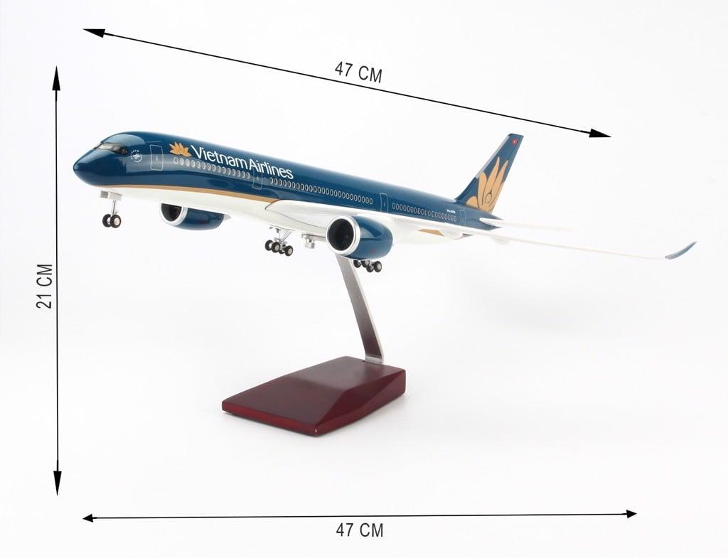 Mô hình máy bay lắp ráp có đèn led Vietnam Airlines 47cm Everfly