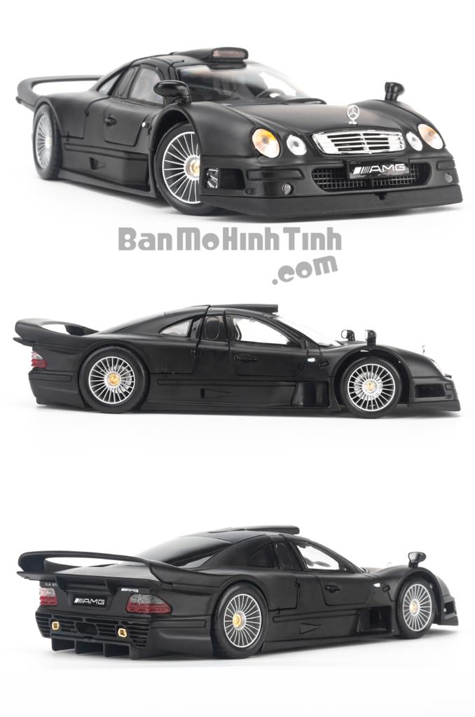 Mô hình xe đua Mercedes-Benz CLK-GTR Street Version 1:18 Maisto Matte Black