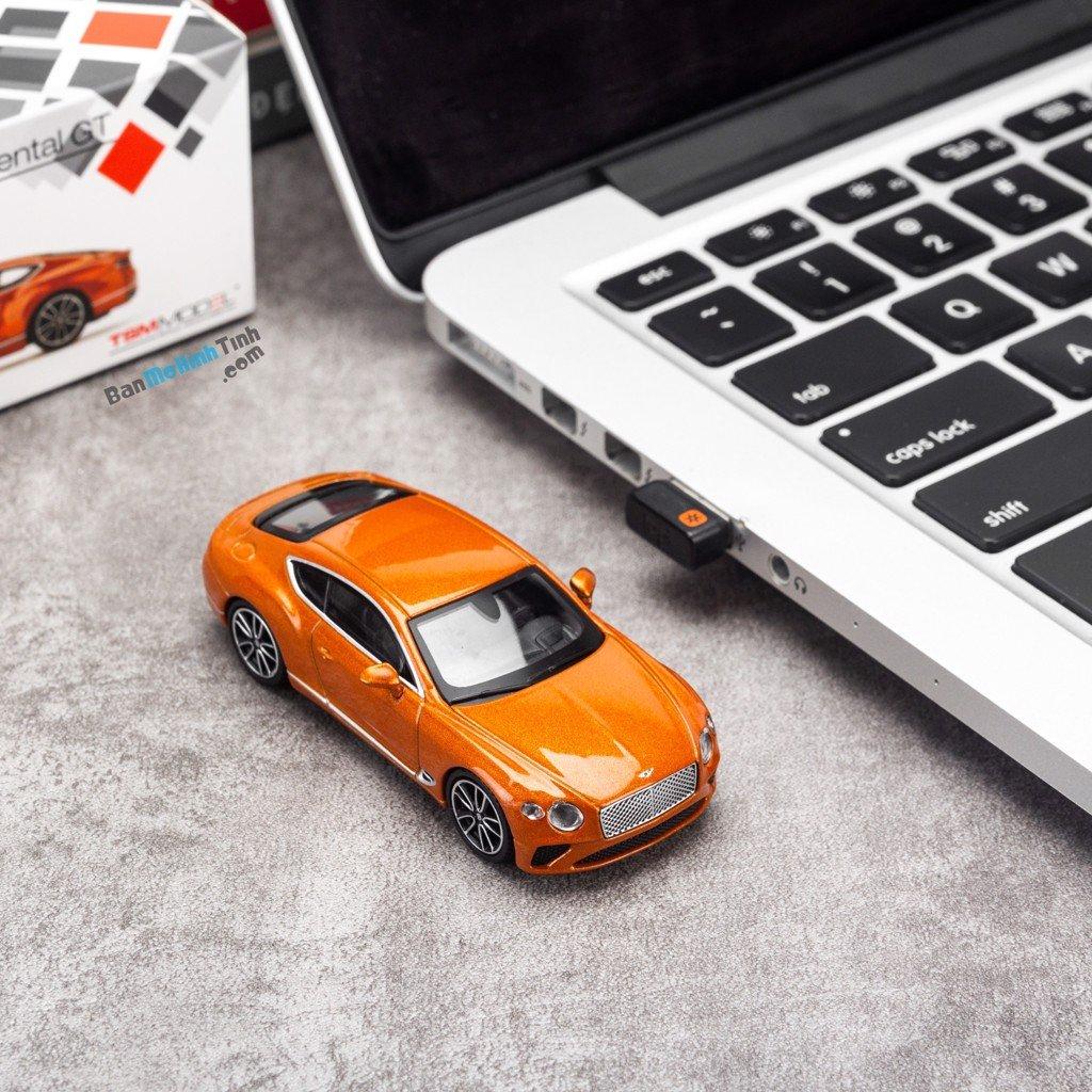 Mô hình xe Bentley Continental GT 1:64 MiniGT Orange