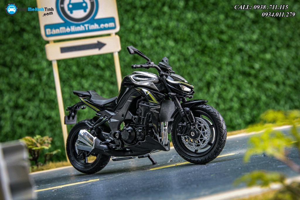 Mô hình xe mô tô Kawasaki Z1000 R Green 1:18 Welly