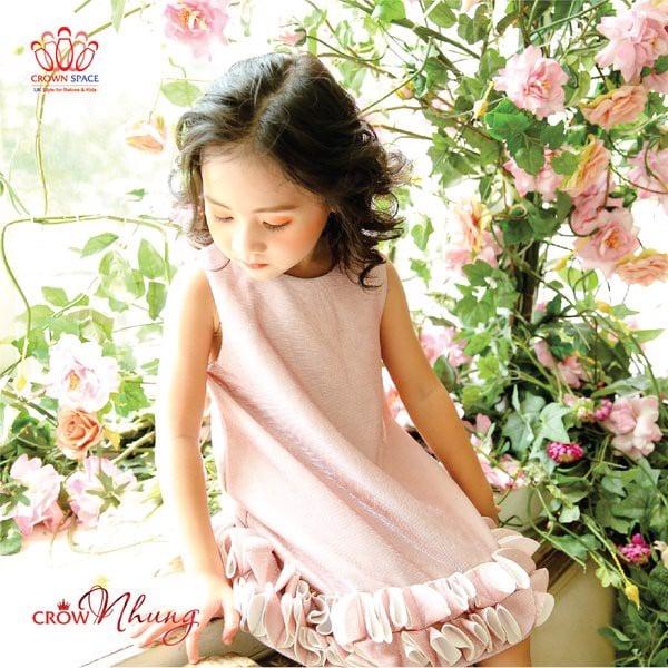 váy công chúa ngắn màu hồng