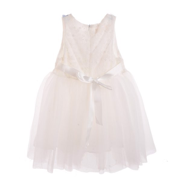 váy đầm công chúa màu trắng đục