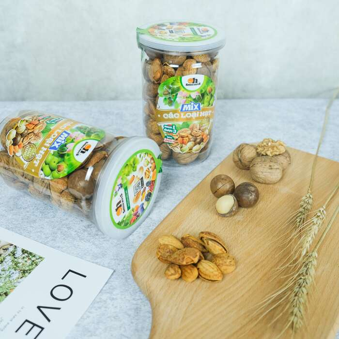 Mix 3 loại hạt Smile Nuts Hộp 400g