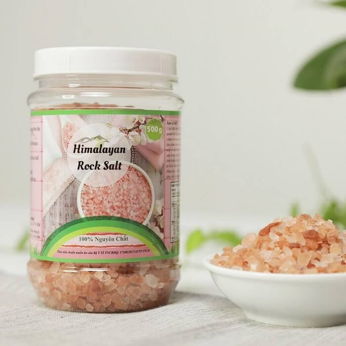 Muối hồng Himalaya dạng hạt Smile Nuts hộp 500g