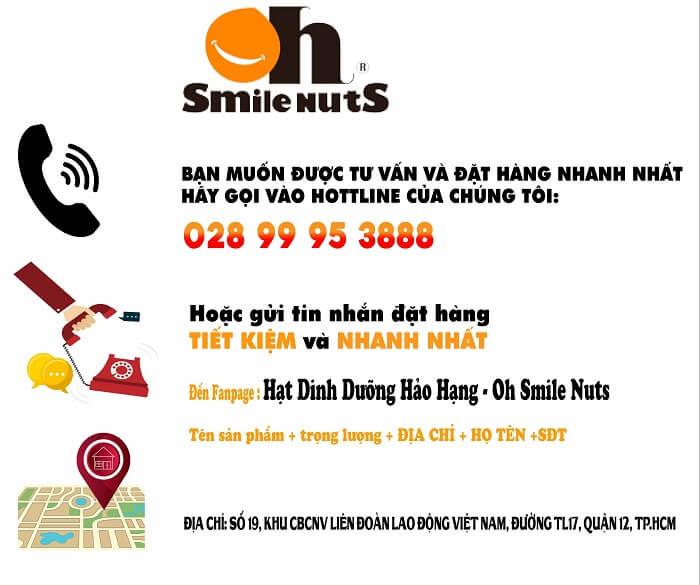 Chính sách của Oh!Smile Nuts luôn đặt lợi ích khách hàng lên hàng đầu