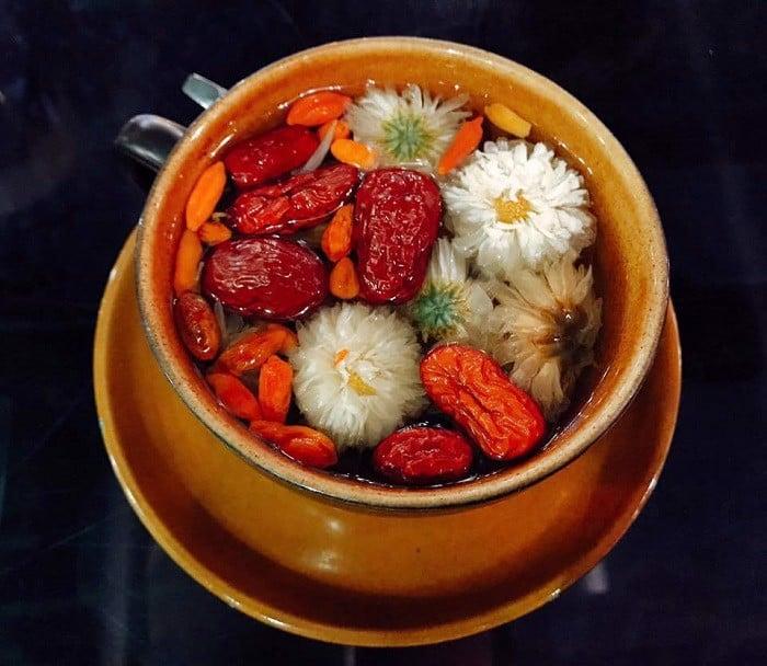 Trà Táo Đỏ hoa cúc thơm ngon, giúp an thần rất tốt