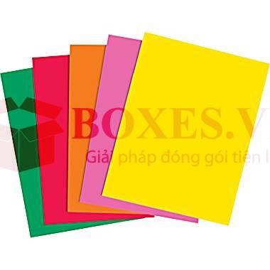 Các loại giấy được sử dụng trong in ấn và bao bì carton