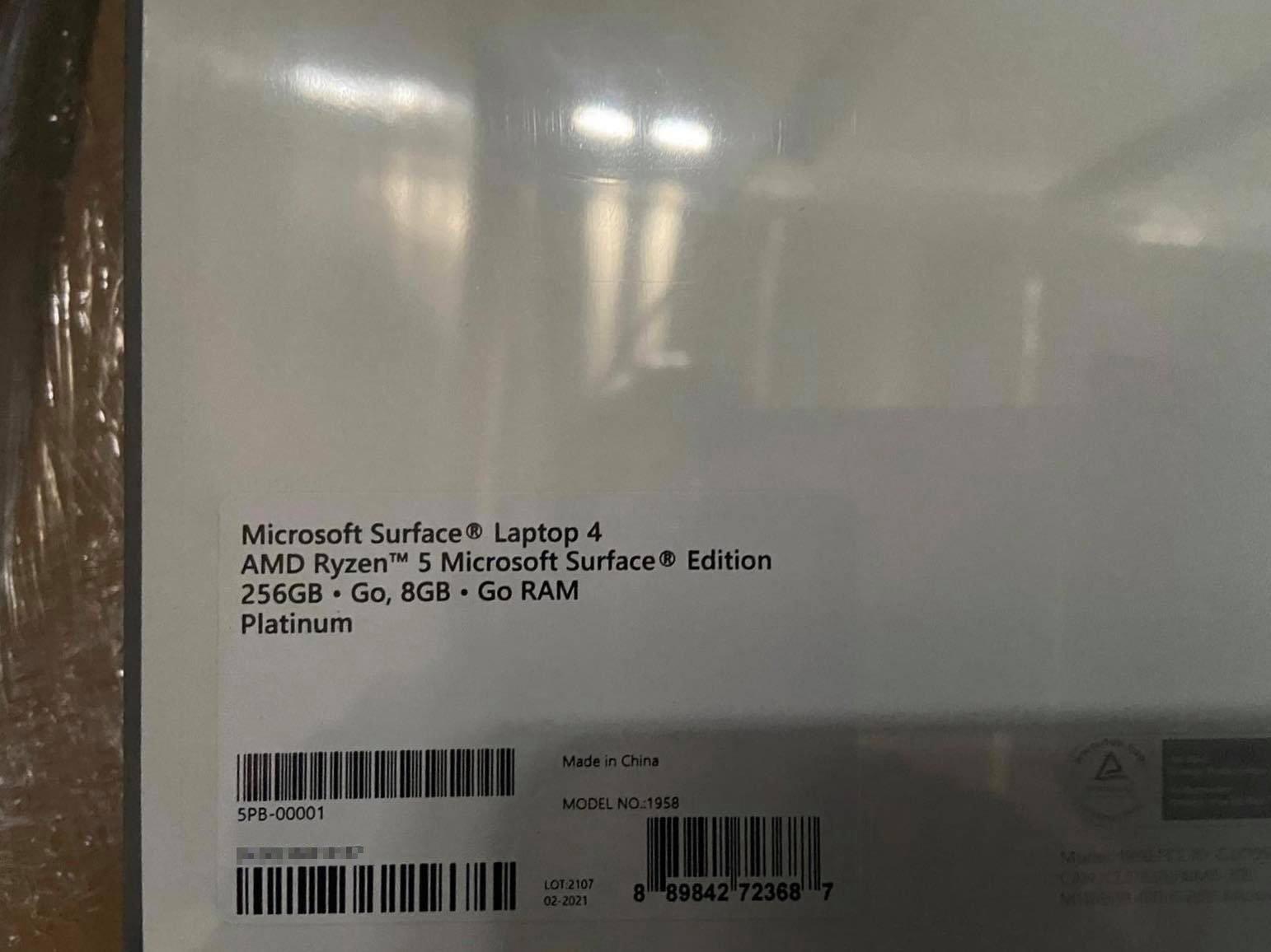 Lộ hình ảnh Surface Microsoft Surface Laptop 4 chưa ra mắt - Goka.vn