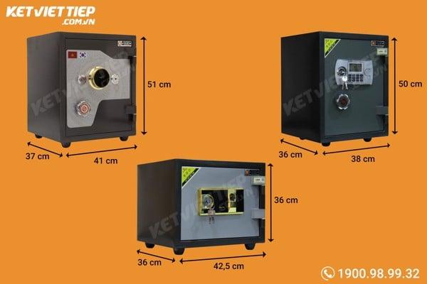 kích thước két sắt mini đến két sắt cho gia đình và công ty