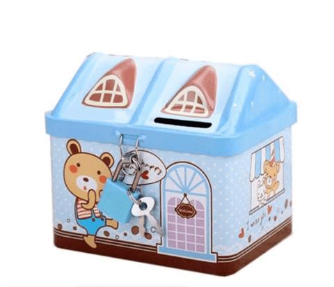 Két sắt đồ chơi hình ngôi nhà