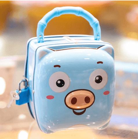 Két sắt mini đồ chơi hình lợn đáng yêu