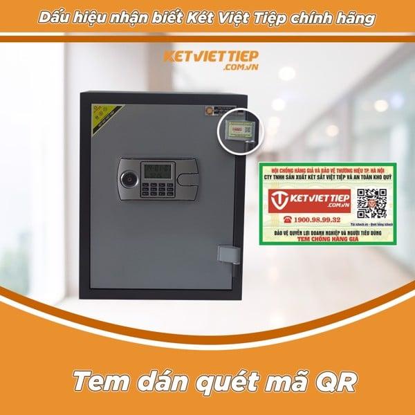 tem truy xuất két sắt việt tiệp chính hãng
