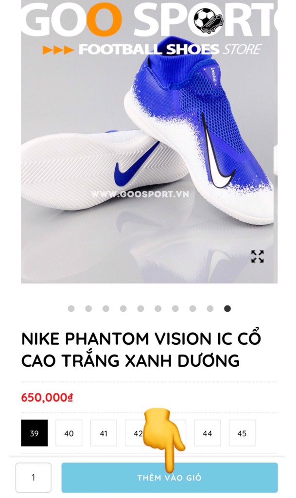 nike phantom vision ic
