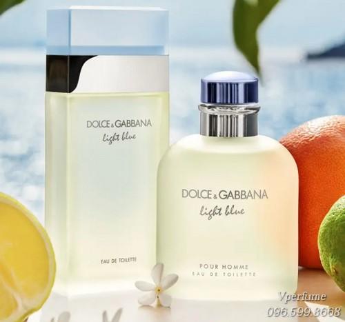 Thiết kế chai nước hoa D&G Light Blue EDT