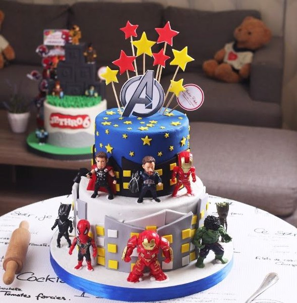 mẫu bánh sinh nhật Avangers