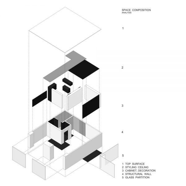 Thiết kế văn phòng làm việc hiện đại với tông màu trắng và đen