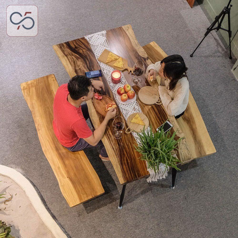 Bộ-bàn-ăn-6-người-gỗ-me-tây-nguyên-tấm-nguyên-khối-ghế-băng