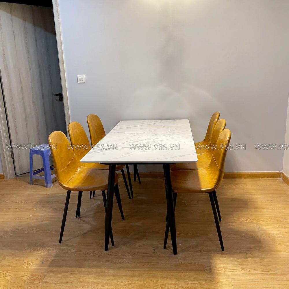 Bộ-bàn-ăn-mặt-đá-6-ghế-bọc-da-đẹp-hiện-đại-hà-nội