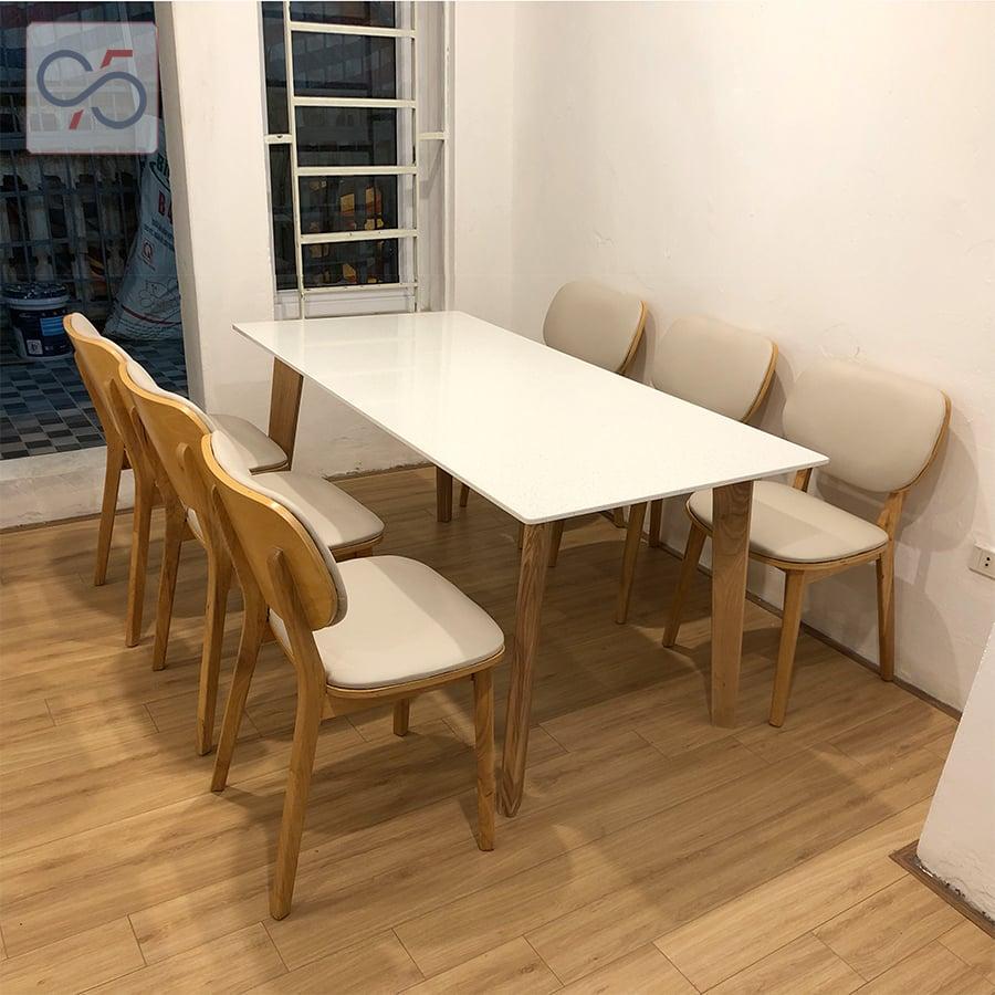 Bộ-bàn-ăn-mặt-đá-Howard-ghế-gỗ-nệm-ngồi-PLC