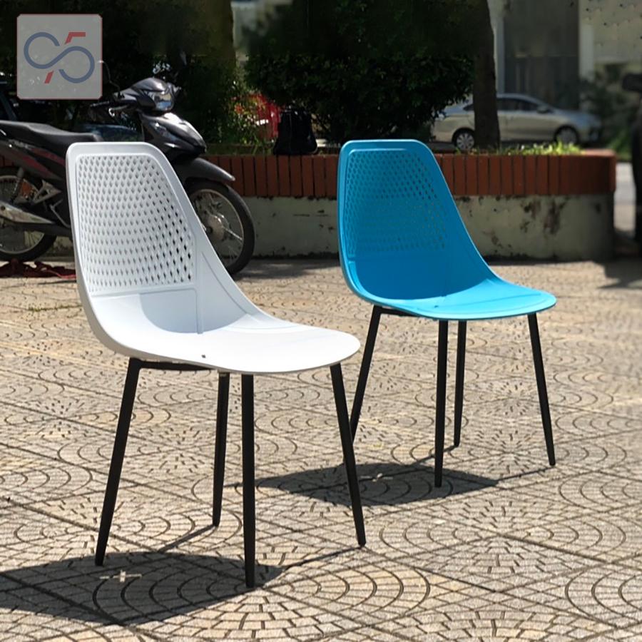 Ghế-ăn-ghế-cafe-Eames-mặt-nhựa-lỗ-chân-sắt-DSR