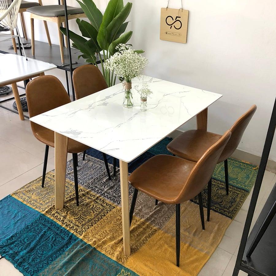 Ghế-ăn-cafe-da-bò-Venus-Talia-chân-sắt