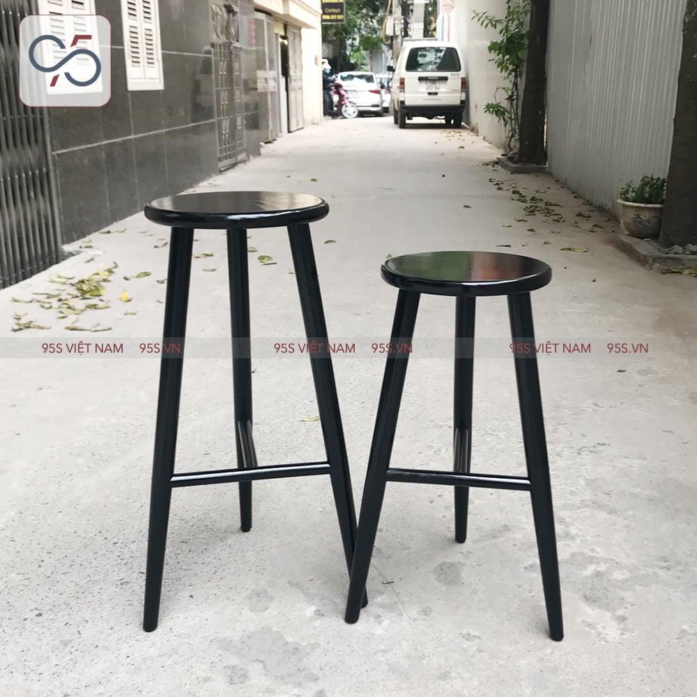 Ghế-quầy-bar-gỗ-mặt-tròn-3-chân-Round-màu-đen-Hà-Nội
