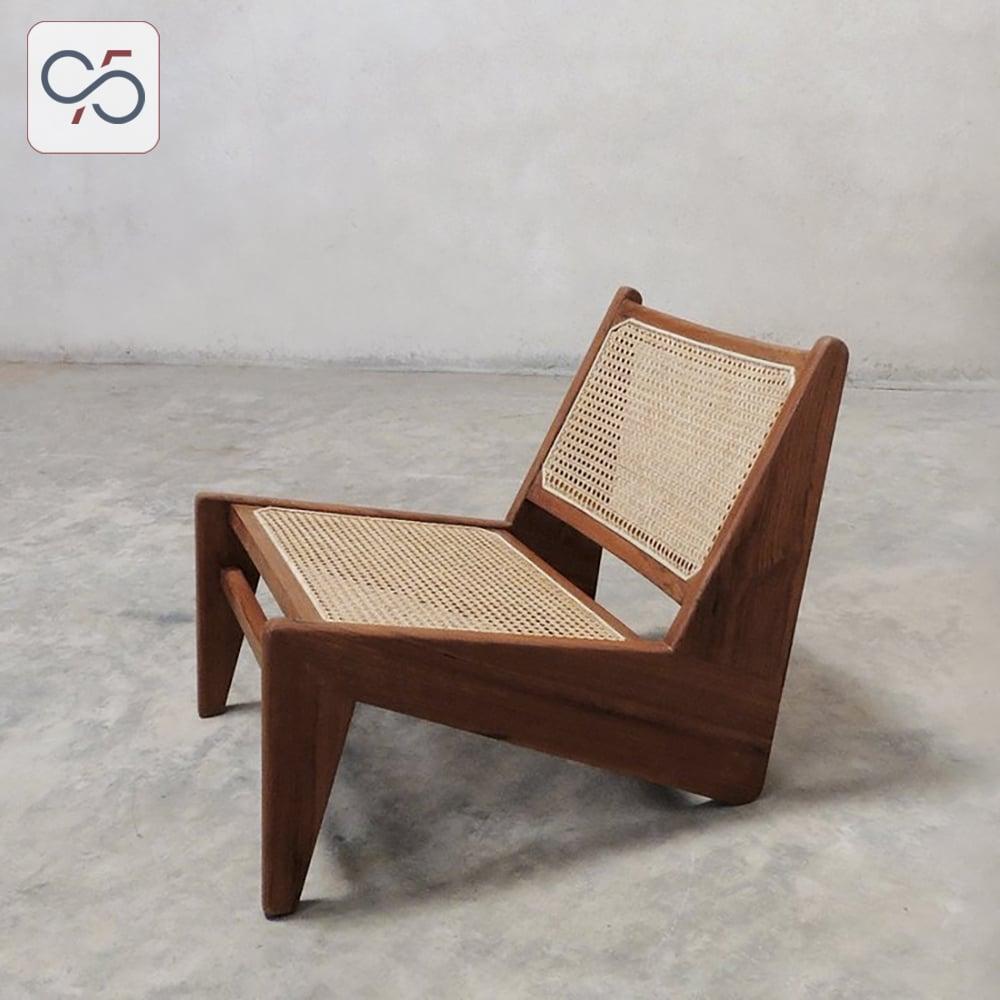 Ghế-thư-giãn-Kangaroo-chair-gỗ-mây-màu-nâu-walnut