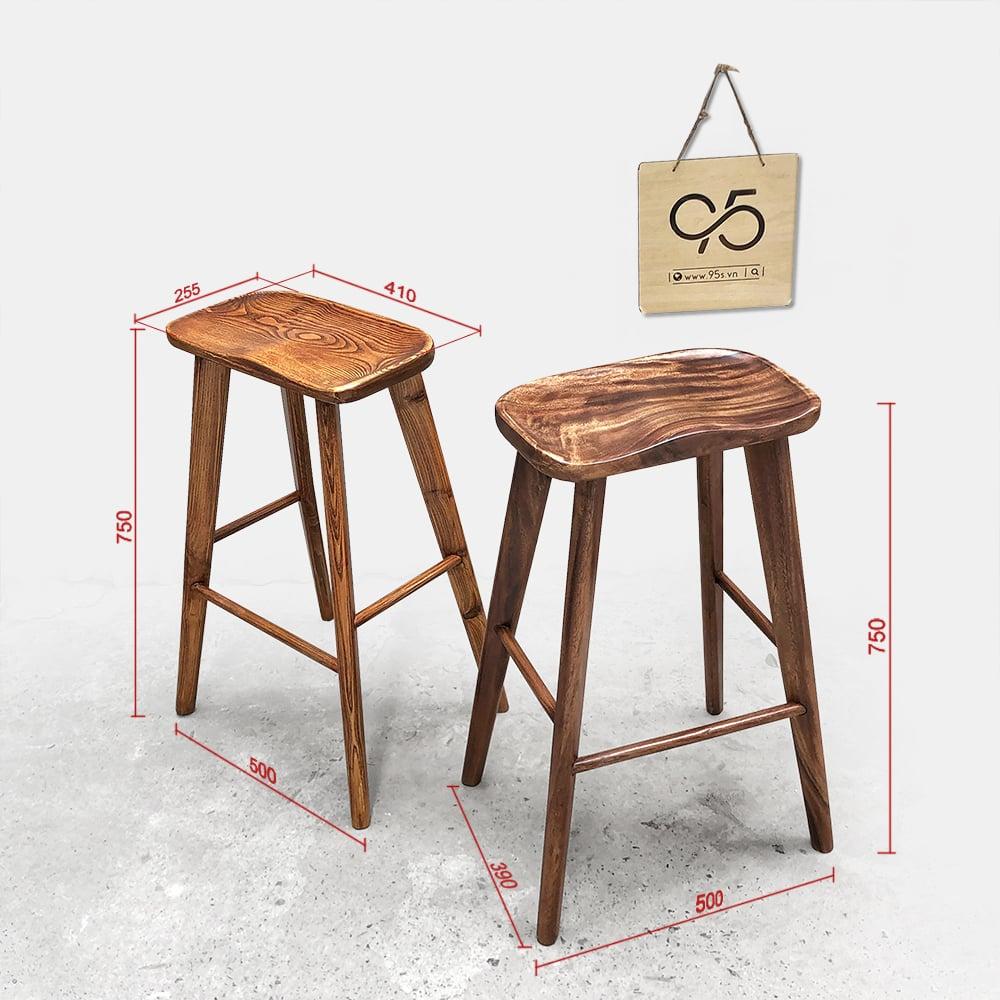 Ghế-quầy-bar-gỗ-mặt-lõm-Taburet-Rustic-cao-cấp-hà-nội