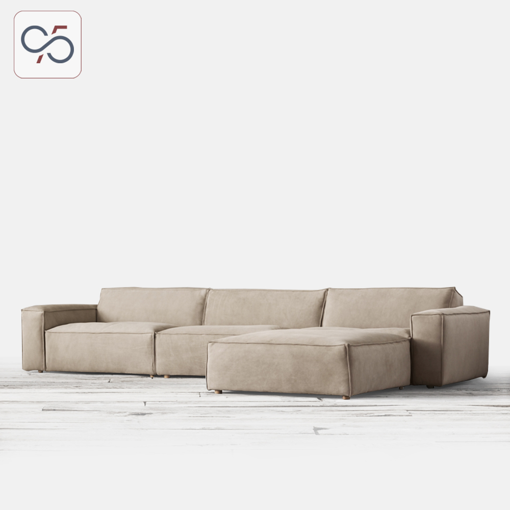 Sofa-góc-COMO-modular-bọc-vải-nỉ-phong-cách-ý-italia