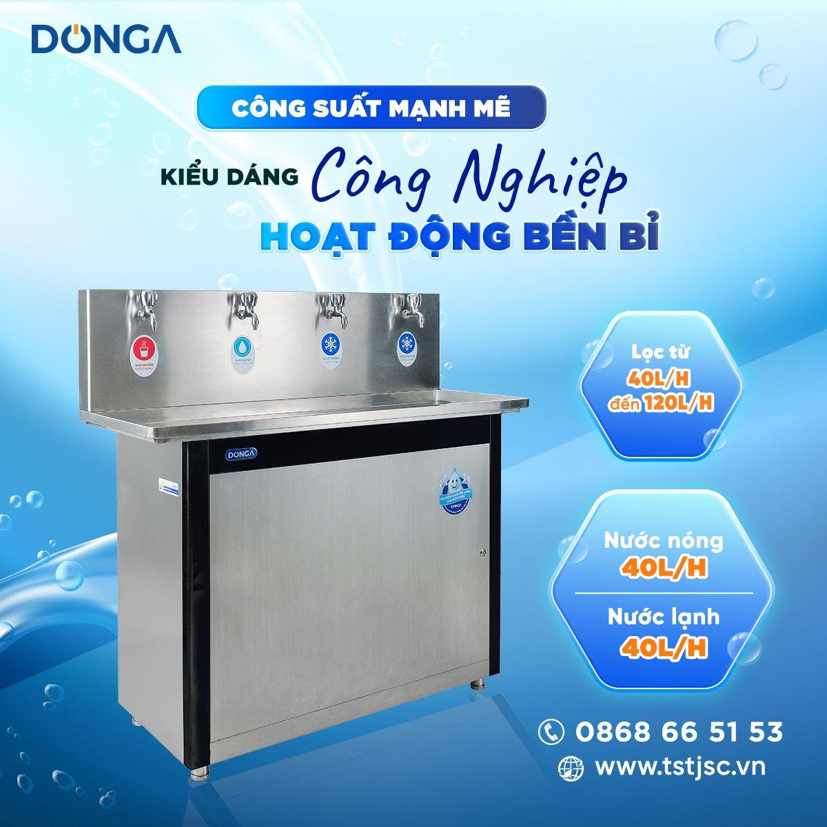 Trao tặng máy lọc nước học đường DONGA cho Đại Học Phương Đông