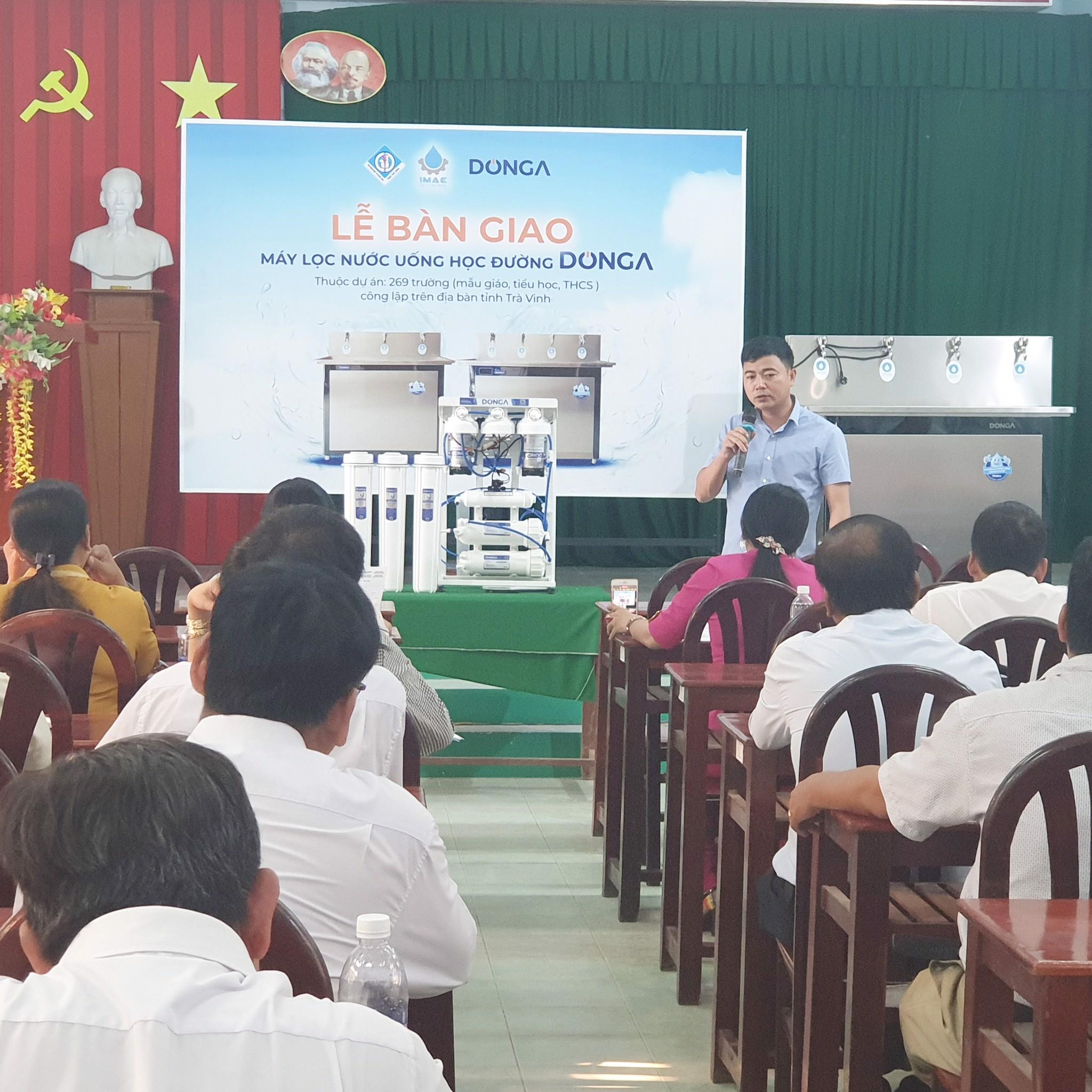 Bàn giao dự án lắp đặt máy lọc nước học đường DONGA cho 269 trường học Tỉnh Trà Vinh