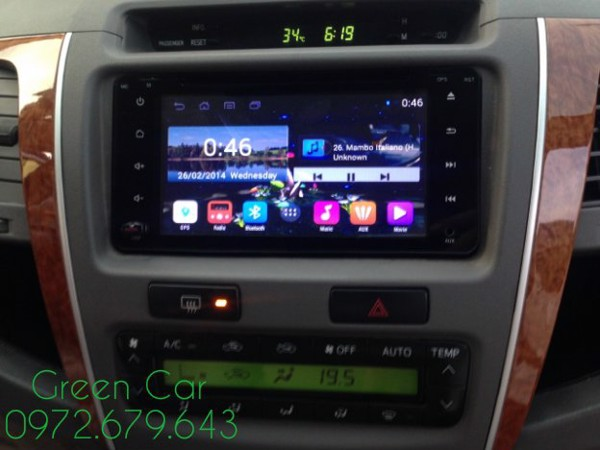 DVD Android cho Vios 2008-2012 theo xe cắm giắc zin