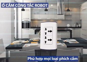 Công tắc âm tường Robot Phù hợp mọi phích cắm