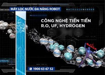 Máy lọc nước Robot - Tích hợp công nghệ lọc tiên tiến R.O + UF + Hydrogen