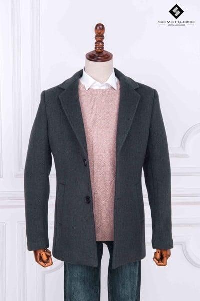 áo măng tô nam cổ vest
