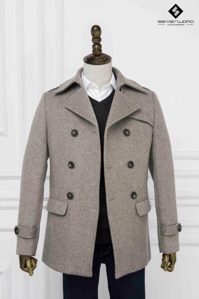 áo măng tô nam cổ bẻ hàn quốc