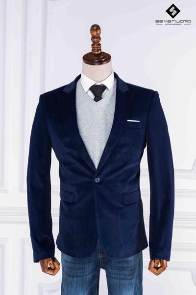 áo vest nhung xanh đậm