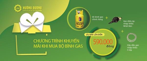 Chương tình khuyến mại khi mua bộ bình gas 12kg