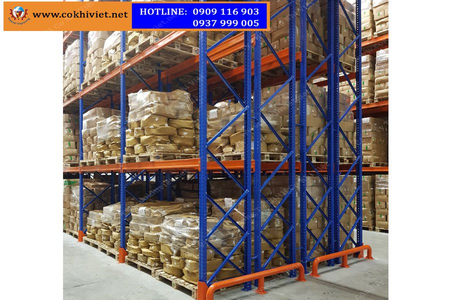 DOUBLE DEEP RACKING SYSTEM OF SAIGON FOOD COMPANY IN DONGNAI